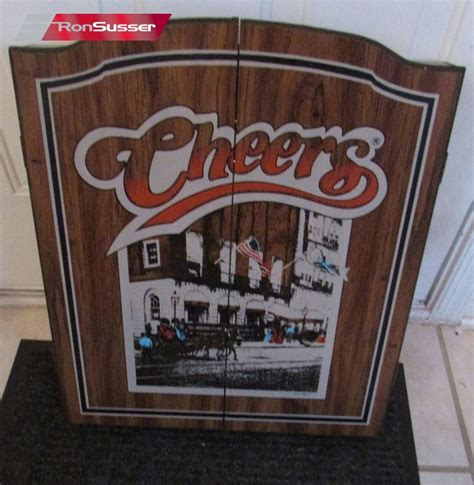 vintage dart board cabinet vintage 1989 cheers dart board cabinet with 6 darts brand