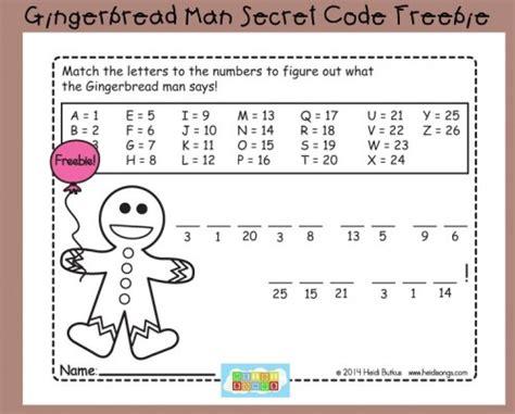 s day secret code gingerbread secret code worksheet freebie heidi songs