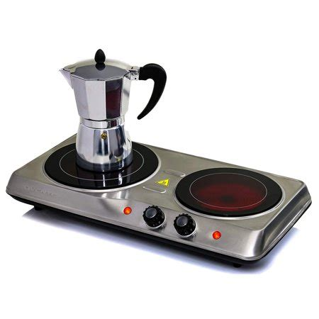 Burner Portable Cooktop by Ovente Countertop Burner Infrared Ceramic Glass