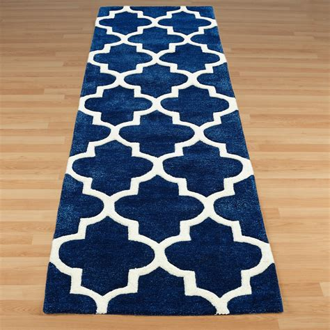 arabesque hallway runners in blue free uk delivery the