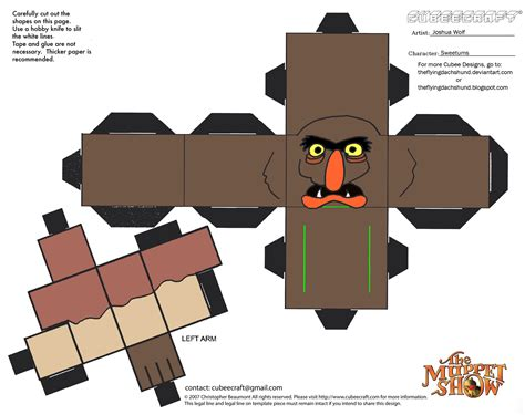 Papercraft Fairs - muppets 12 sweetums cubee by theflyingdachshund on deviantart