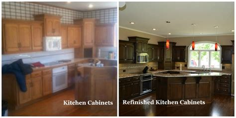 kitchen cabinet refinishing before and after refinishing kitchen cabinets remodeling