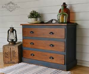 antique restored hardwood chest of drawers painted in