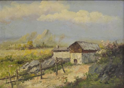 italian painting on canvas rural farm landscape the crier estate more day one