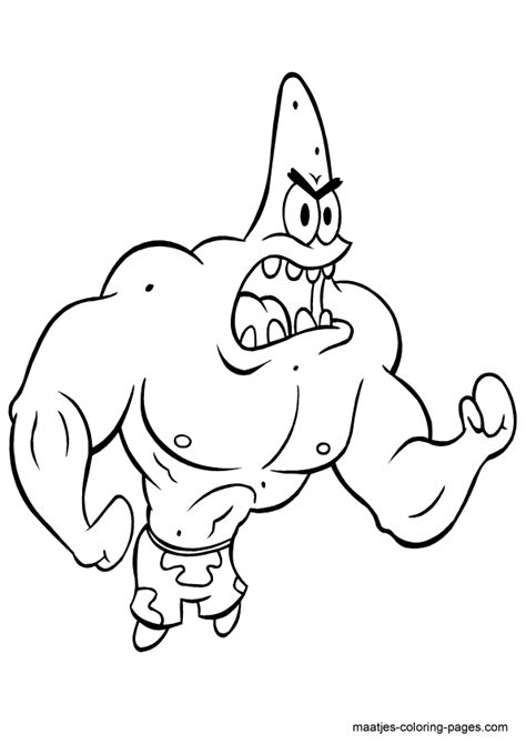black and white patrick star pics about space