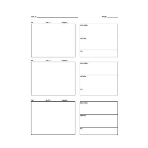 storyboard template pdf storyboard template 77 free word pdf ppt psd format