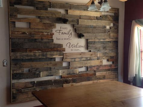 pallet wood accent wall for the home pinterest other our newest project a rough pallet frame wall that says