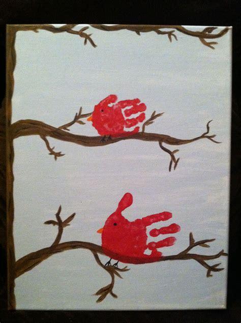 handprint cardinal canvas