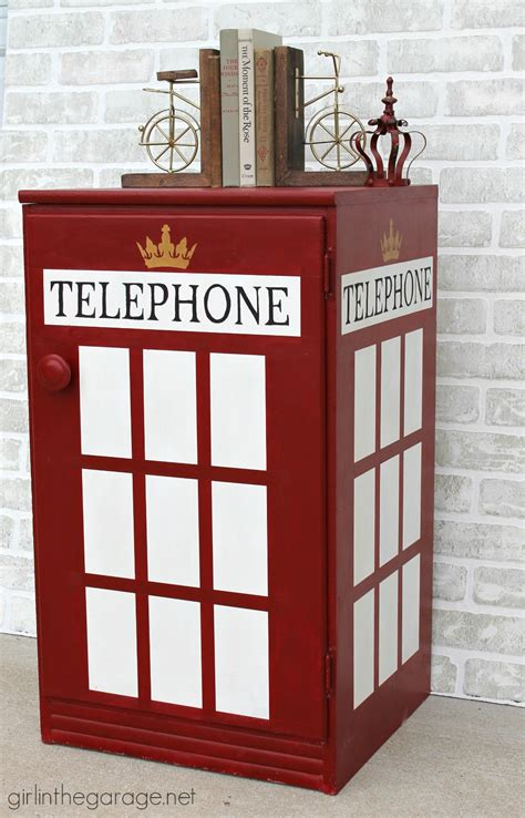london phone booth cabinet hunt gather vintage market in the garage 174
