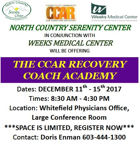 Health Coach Institute Detox Program by Ccar Recovery Coach Academy Weeks Center