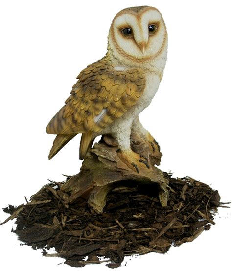 barn owl resin garden ornament 163 26 31 garden4less uk