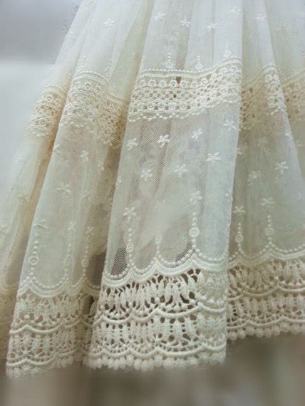 lace curtain material ivory lace fabric embroidered tulle lace fabric vintage