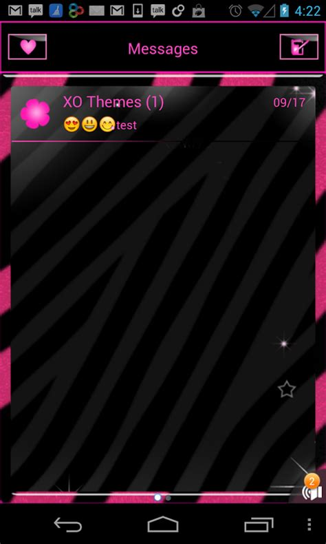 message theme apk pink zebra wallpaper and theme android apps on play