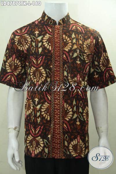 Baju Koko Batik Keren baju batik koko motif klasik nan elegan busana batik lengan pendek kerah shanghai proses cap