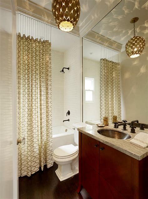 Decorated Bathrooms With Shower Curtains Extraordinary Fabric Shower Stall Curtains Decorating Ideas Images In Bathroom Transitional