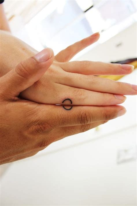 matching ring tattoos for couples matching best ideas designs