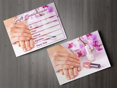 printable nail vouchers gift voucher beauty salon blank card coupon nail pedicure