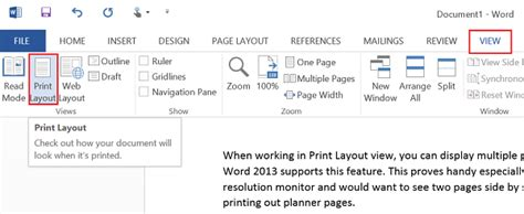 microsoft word print layout view not working technology at the speed of life trick to view multiple