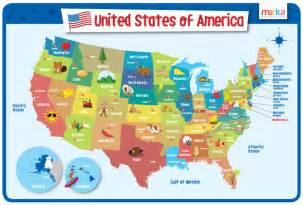 Usa Map For Kids by Usa Map Educational Kids Placemats