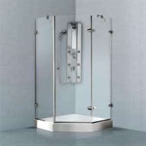 38 Inch Neo Angle Shower Doors Vigo Verona 38 125 In X 78 75 In Frameless Neo Angle Shower Enclosure In Chrome With Clear
