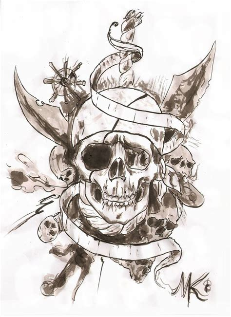 pirate skull tattoos collection of 25 pirate tattoos drawing page
