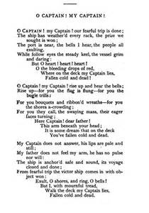 O Captain My Captain Essay by Andre Lutz Dissertation
