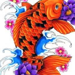 Koi Fish And Lotus Flower Designs Koi Fish Like The Idea Of 2 Big Lotus Flowers