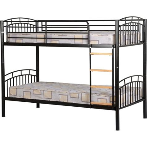 Metal Bunk Bed Frame Cheap Seconique Ventura Black Metal Bunk Bed Frame For Sale At Discounted Prices