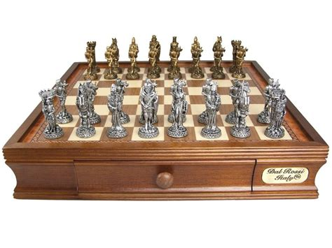 chess sets dal rossi italy medieval chess set pewter 95mm
