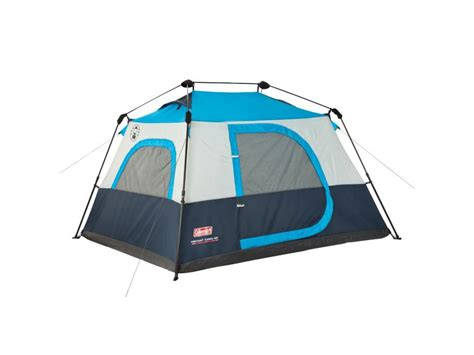 Coleman Cabin Tents by Coleman 4 Person Instant Cabin Tent Polyester Blue Silver