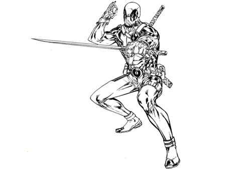 free coloring pages of cartoon deadpool pictures