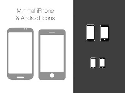 Simple Iphone All Hp free vector minimal iphone and android icons psd by