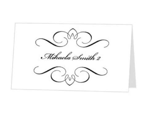 table place cards template custom card template 187 table place card template free