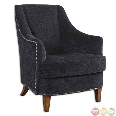 statement armchair nala midnight black upholstered statement armchair 23002