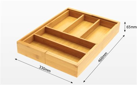 Kitchen Drawer Dimensions by Expandable Flatware And Drawer Organizer Bamboo Kitchen Storage