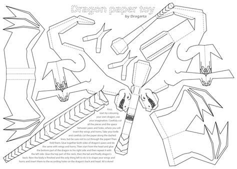 dragon paper toy by dragarta on deviantart