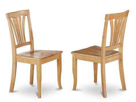 kitchen and dining room chairs set of 2 avon dinette kitchen dining chairs with plain wood seat in light oak ebay