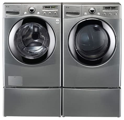 washer dryer set lg washer electric dryer set wm2655hva dlex2655v steam washer w coldwash ebay