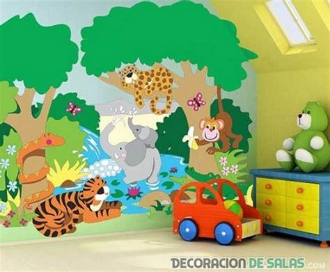 paredes cuartos infantiles paredes dormitorio con grandes dibujos