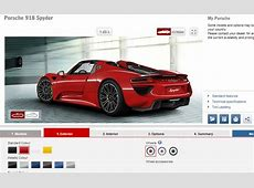 Build Your Dream Porsche 918 Spyder With Official Configurator Range Rover Konfigurator
