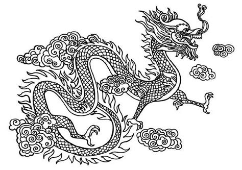 coloring page chinese dragon mythological dragons 35 dragon coloring pages and pictures