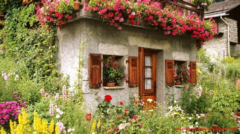 House With Flower Garden Beautiful Collection Of Home Garden Wallpapers Download