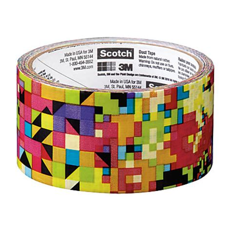 Scotch Colored And Patterned Duct Tape | scotch colored duct tape 1 78 x 10 yd crazy pattern by
