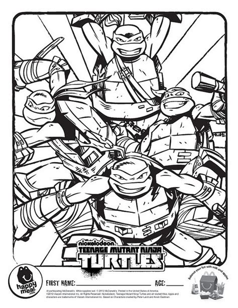 tmnt coloring pages mutant turtles coloring pages