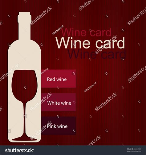 Wine Card Template by Template Of A Wine Card Stock Vector Illustration 96367964