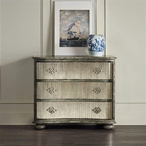 mirrored accent chests for living room ideas home hooker furniture 3 drawer mirrored accent chest in rustic