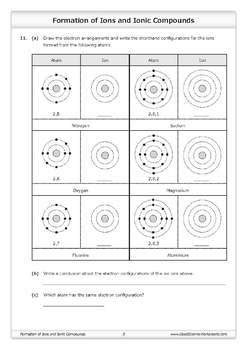 formation of ions and ionic compounds worksheet by good