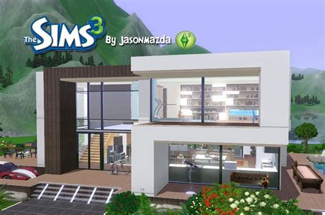 sims 3 modern house design the sims 3 house designs modern villa youtube