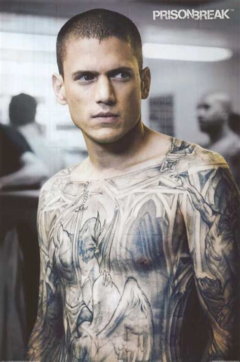 wentworth miller tattoos prison michael scolfield the best one