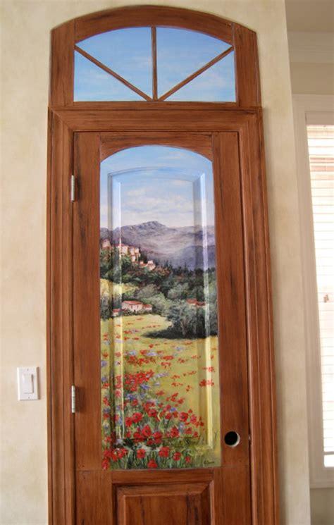 Using Old Doors In The Garden Hand Painted Doors Painting On Doors Decorative Artist